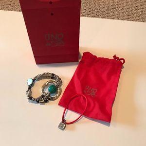 Uno de 50  Calma Chica silver/turquoise bracelet